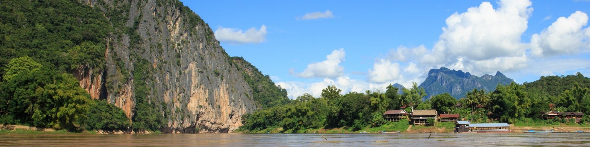 Nam Ou area on the Mekong River located near Pak Ou Cave, Luang Prabang, Laos