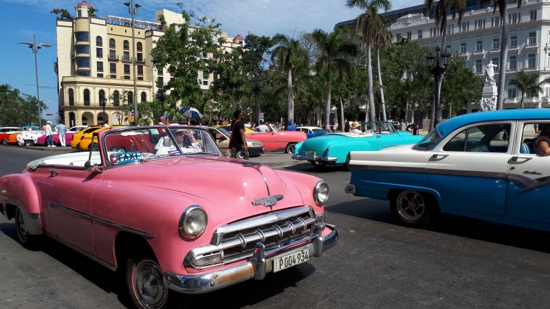 pink chevy cuba