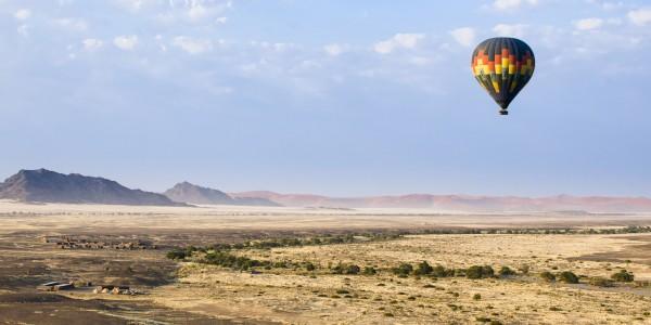Hot air balloon at Sossusvlei