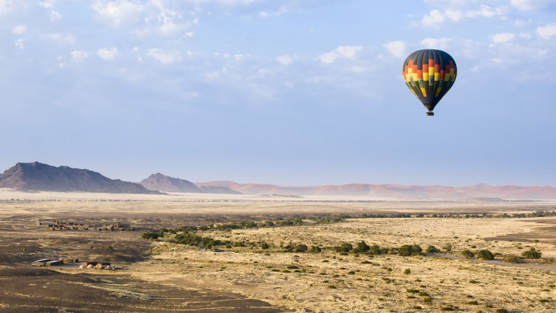 Hot air balloon at Sossusvlei