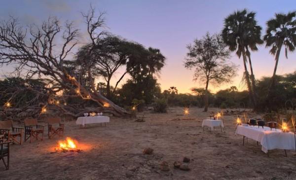 sausage tree camp_bush dinner