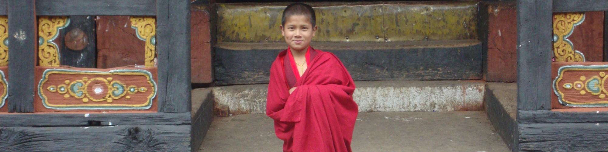 monk in bhutan