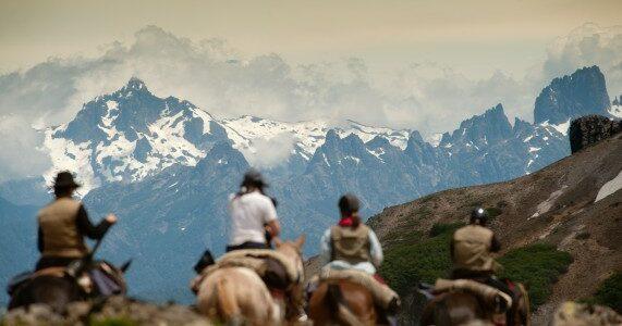 Horse riding at Estancia Huechahue