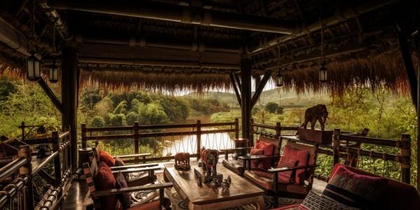 Thailand - Four Seasons Tented Camp - Bar