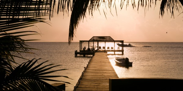 Belize - Ambergis and Caulker Cayes - Mata Chica - Sea View