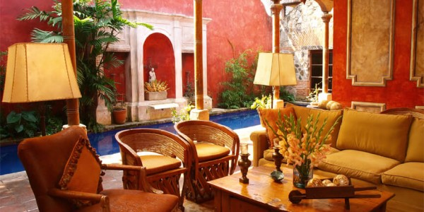 Guatemala - Antigua - Posada del Angel - Inside