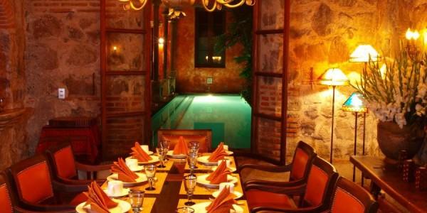 Guatemala - Antigua - Posada del Angel - Restaurant