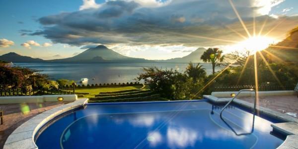 Guatemala - Lake Atitlan - Lake Atitlan Hotel - Pool