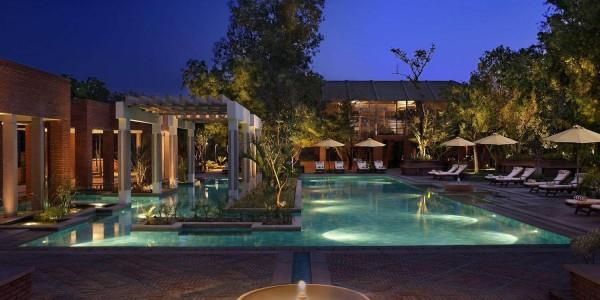India - Agra & the Taj Mahal - ITC Mughal - Spa Pool Dusk