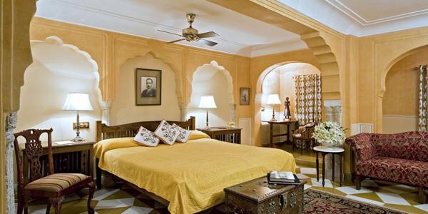India - Rajasthan - Samode Haveli - Bedroom