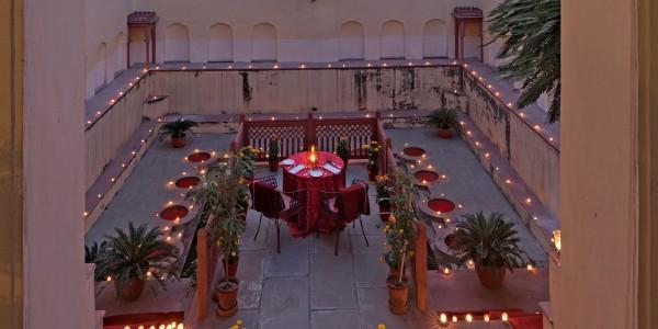India - Rajasthan - Samode Haveli - Dining