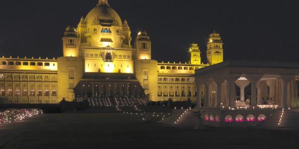 India - Rajasthan - Umaid Bhawan Palace - Night