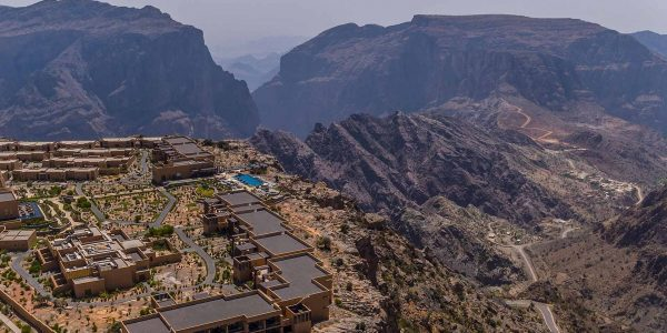 Oman - Nizwa & the Forts - Anantara Al Jabal Al Akhdar Resort - Top Down