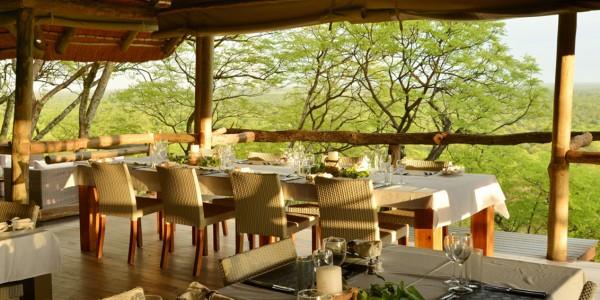 Botswana - Chobe National Park - Ghoha Hills Savuti - Restaurant
