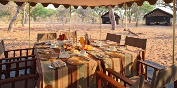 Botswana - Chobe National Park - andBeyond Chobe Under Canvas - Dining