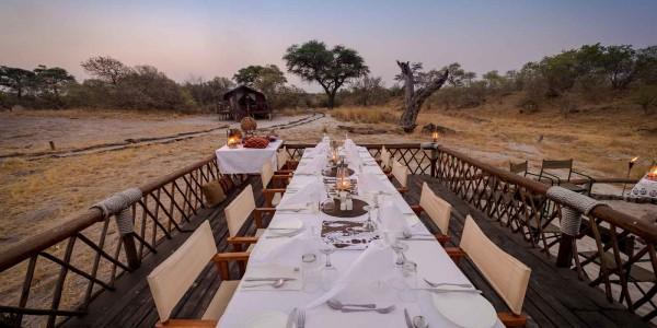Botswana - Linyanti, Selinda & Kwando - Savuti Camp - Dining