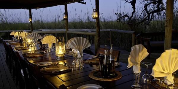 Botswana - Okavango Delta - Little Vumbura Camp - Restaurant