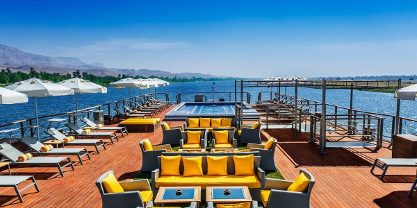 Egypt - Nile Cruises - Oberoi Philae - Deck