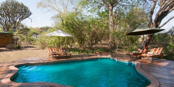 Malawi - Liwonde National Park - Mvuu Lodge - Pool