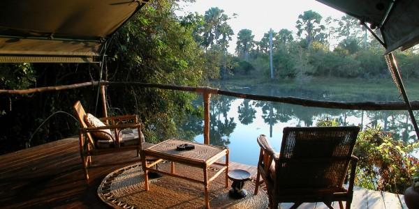 Malawi - Liwonde National Park - Mvuu Lodge - Tent Deck