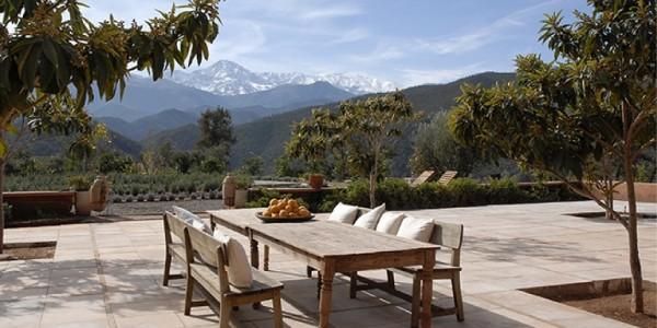 Morocco - Atlas Mountains - Kasbah Bab Ourika - Terrace