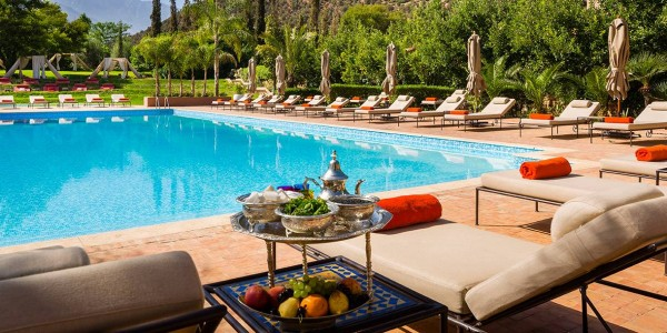 Morocco - Atlas Mountains - Kasbah Tamadot - Pool