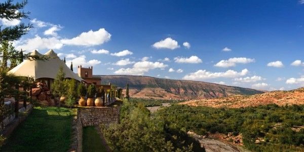 Morocco - Atlas Mountains - Kasbah Tamadot - View