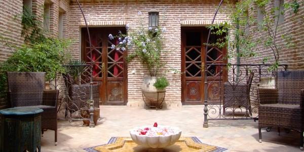 Morocco - Marrakech - La Maison Arabe - Lobby