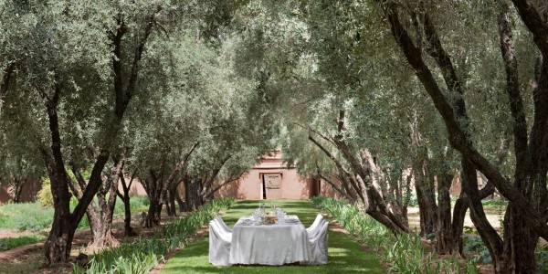 Morocco - Skoura & the Valley of the Kasbahs - Dar Ahlam - Dining Garden