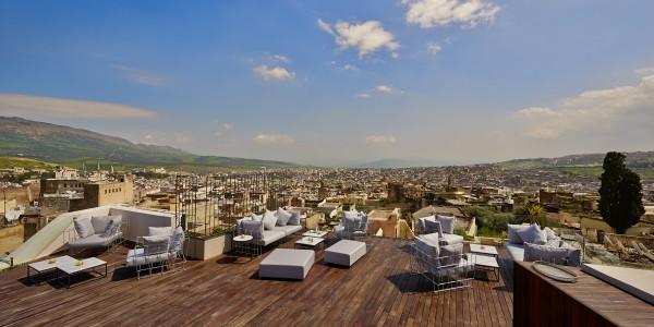 Maroc, Fes, Riad Fes, Relais et Chateau, Terasse