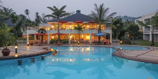 Rwanda - Lake Kivu - Lake Kivu Serena Hotel - Pool