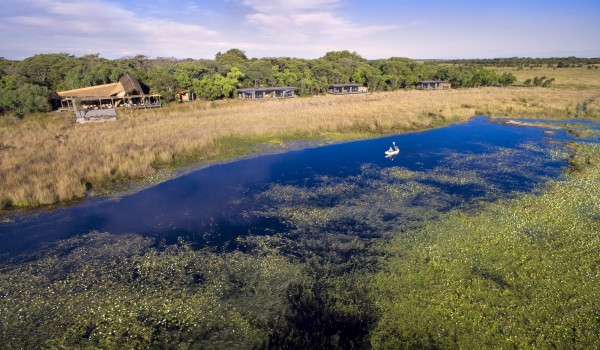 Zambia - Liuwa Plains National Park - King Lewanika Lodge - Boating