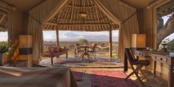 Kenya - Amboseli - Tortilis Camp - Family Tent Twin