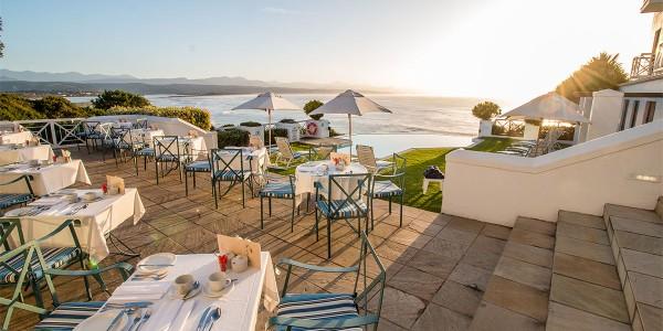 South Africa - The Garden Route - The Plettenberg Hotel - Restaurant Terrace