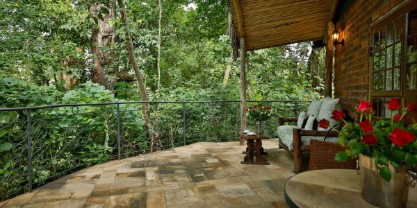 Tanzania - Arusha - Rivertrees Country Inn - River Cottage Balcony
