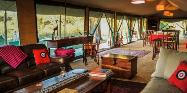 Tanzania - Ngorongoro Crater - Lemala Ngorongoro Tented Camp - Dining Area Inside