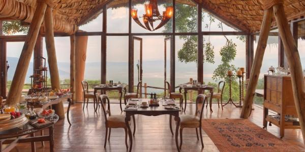Tanzania - Ngorongoro Crater - andBeyond Ngorongoro Crater Lodge - Dining Area