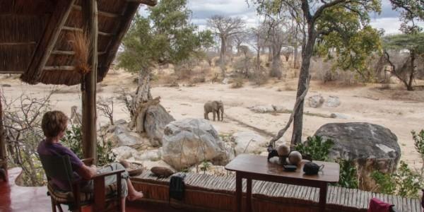 Tanzania - Ruaha National Park - Mwagusi Safari Camp - View from Banda