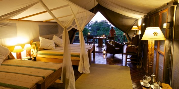 Tanzania - Selous Game Reserve - Rufiji River Camp - Bedroom