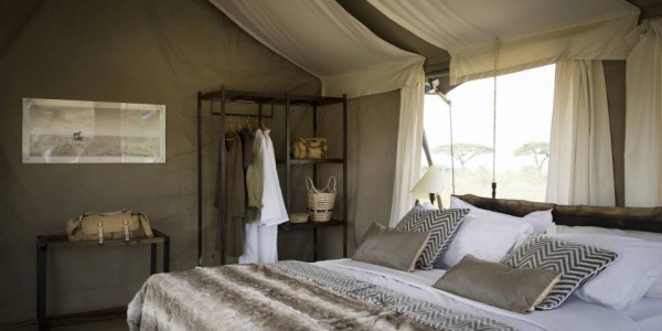 Tanzania - Serengeti National Park - Namiri Plains Camp - Bedroom