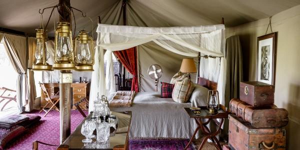 Tanzania - Serengeti National Park - Singita Sabora Tented Camp - Bedroom