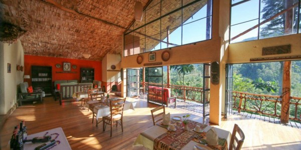 Uganda - Bwindi National Park - Mahogany Springs Lodge - Main Building Restaurant