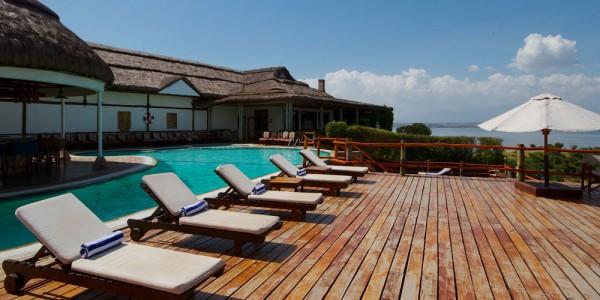 Uganda - Queen Elizabeth National Park - Mweya Safari Lodge - Pool