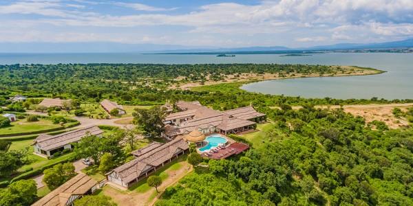 Uganda - Queen Elizabeth National Park - Mweya Safari Lodge - Topdown