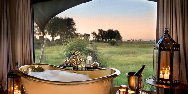 Botswana - Okavango Delta - Duba Plains Camp - Bath