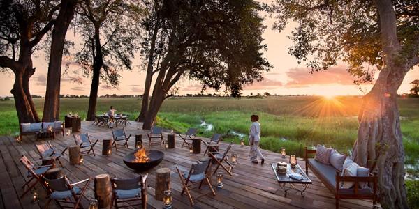 Botswana - Okavango Delta - Duba Plains Camp - Fire