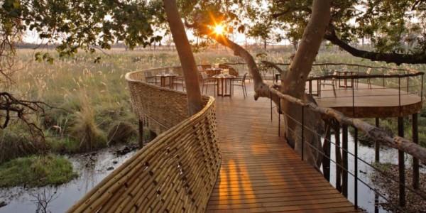Botswana - Okavango Delta - andBeyond Sandibe Okavango Safari Lodge - Guest area