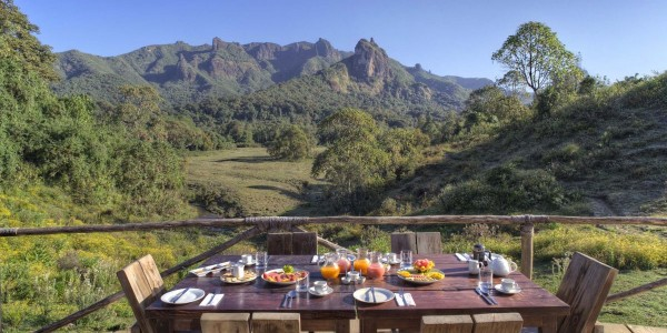 Ephiopia - Bale Mountains - Bale Mountain Lodge - Dining