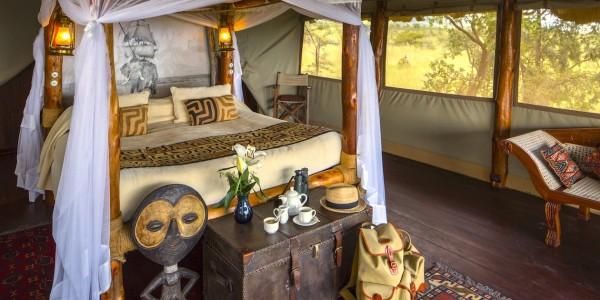 Kenya - Tsavo & Chyulu Hills - Campi ya Kanzi - Bedroom