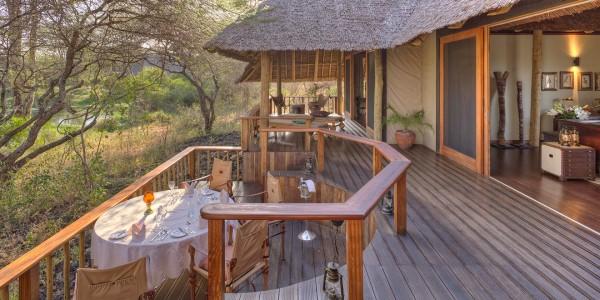 Kenya - Tsavo & Chyulu Hills - Finch Hattons Luxury Tented Camp - Dining